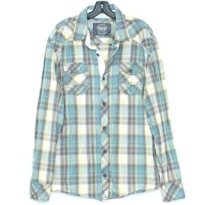 BKE Mens Shirt Athletic Fit Button Up Plaid XL I1
